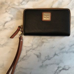 Dooney and Bourke black and brown wristlet